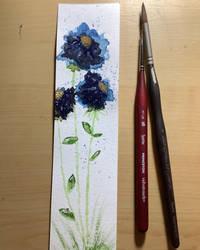 Blue flower bookmark