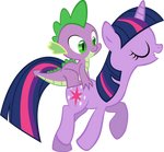 Spike Rides On Twilight