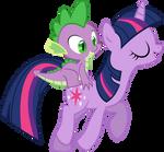 Spike Rides On Twilight