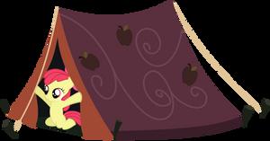 Apple Bloom In A Tent by IAmADinosaurRARRR