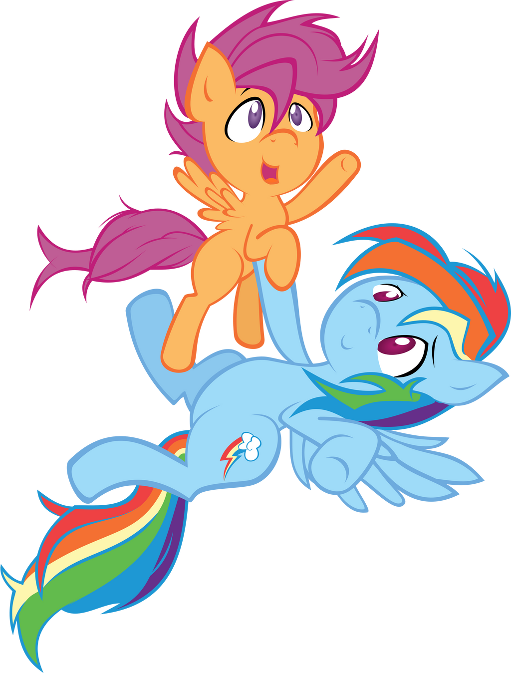scootaloo and rainbow dash coloring pages - photo #33