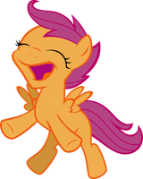 Scootaloo's Happy Dance by IAmADinosaurRARRR