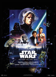 Star Wars VI : Return of the Jedi - Movie Poster by nei1b