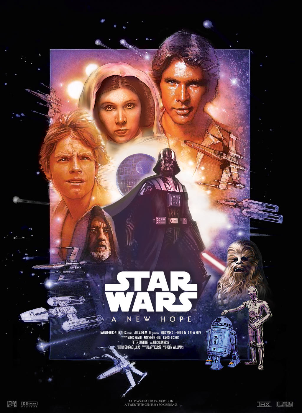 Star Wars Iv A New Hope Movie Poster By Nei1b On Deviantart
