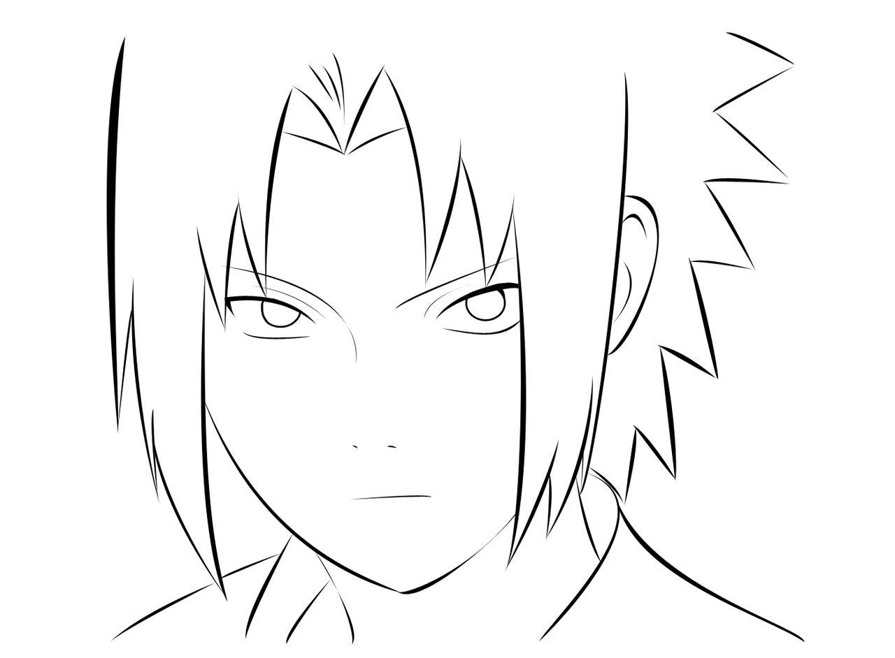 Dibujos De Kakashi Para Colorear: Sasuke Para Colorear