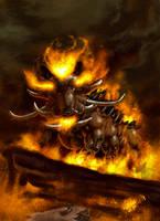 Fire warthog by Toramarusama