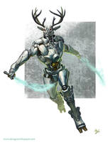 Robot deer by Toramarusama