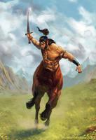 Centaur charge by Toramarusama