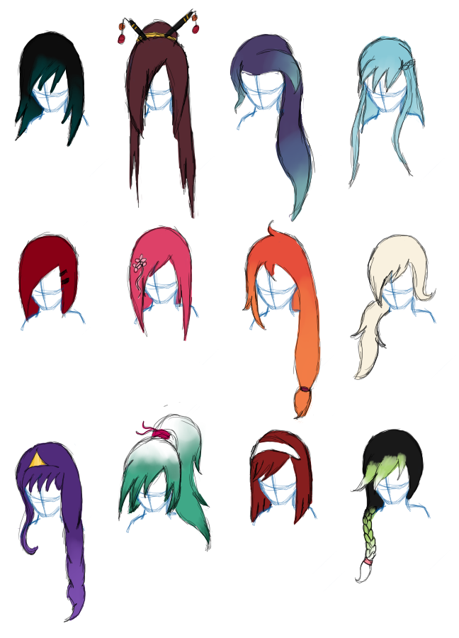Hairstyles Female Characters By Tinypaperdresses On