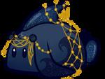Aquatic Blue Goldstone Taffy Bunbon