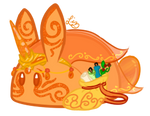Enchanting Fire Opal Cake Bunbon