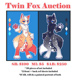 [closed] Twin Fox Auction