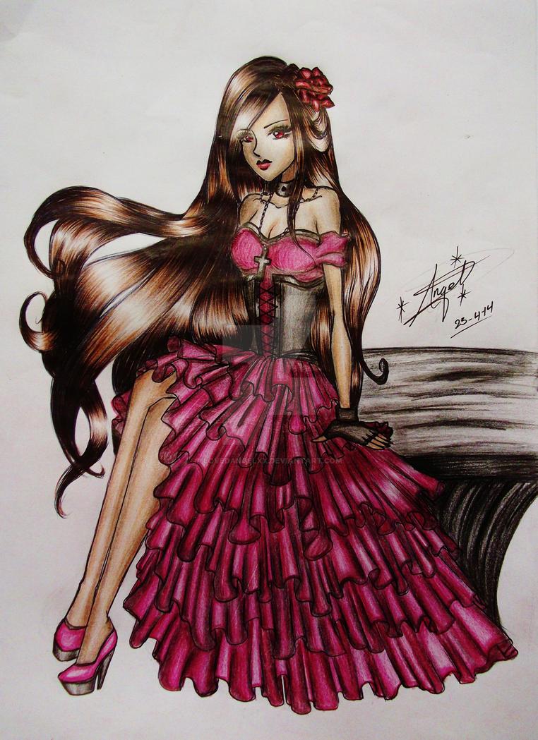 Anime vampire girl 3 by lovedangelxx