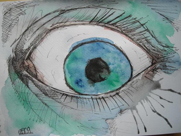 watercolour eye by AsatorArise