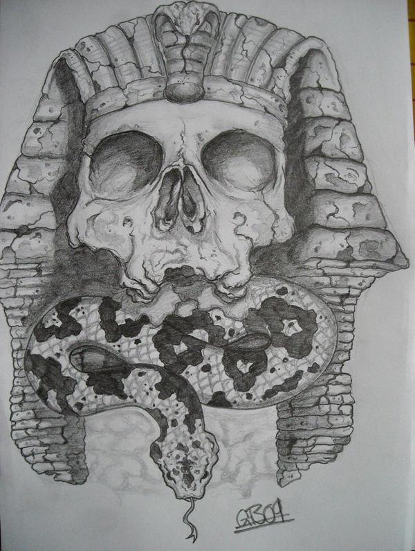 Corroded Egyptian Skull By AsatorArise