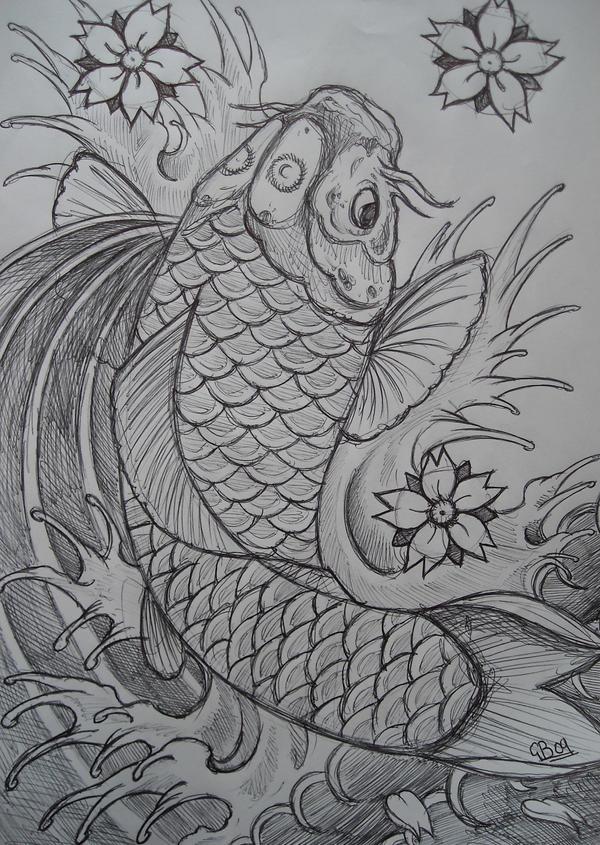 Japanese Coy Fish Tattoo Designs