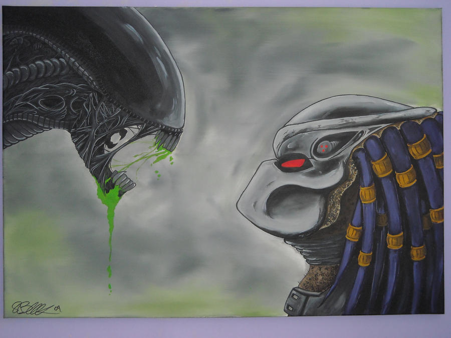 Alien vs predator canvas by asatorarise