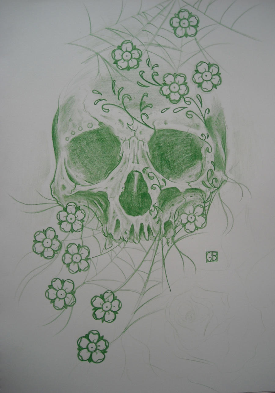 Dia de los muertos skull by AsatorArise