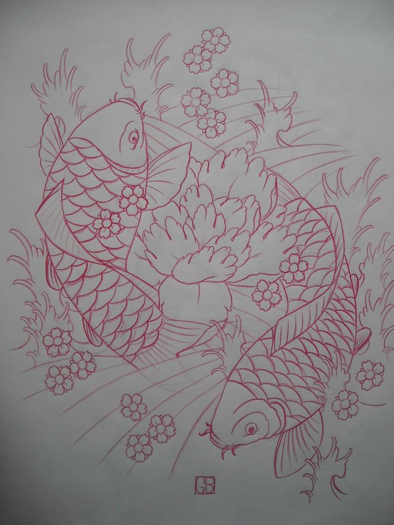Melissa tattoo design tattoo designs by marcia hewitt for Koi fish design