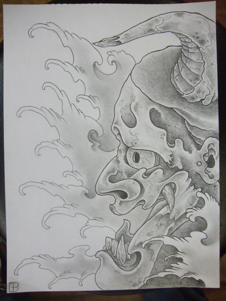 hannya side profile by AsatorArise