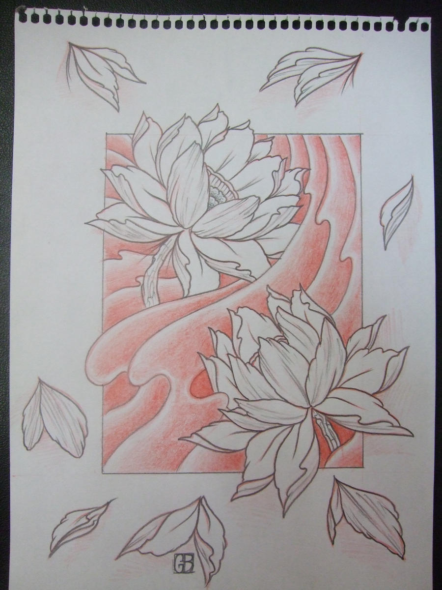 Lotus Flower Drawing Tattoo Viewing Gallery