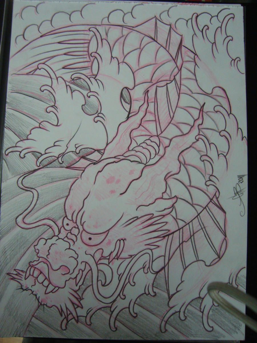 Koi Dragon Sketch Dragon Koi by Asatorarise