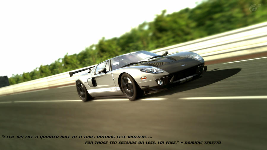Ford Gt  With Quote By Tabuzx