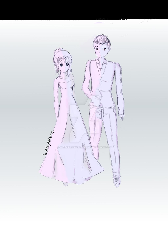 Wedding Drawing By Haileymantgomery On Deviantart