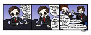Colbert Cartoon: Comic 1 by MicahJo