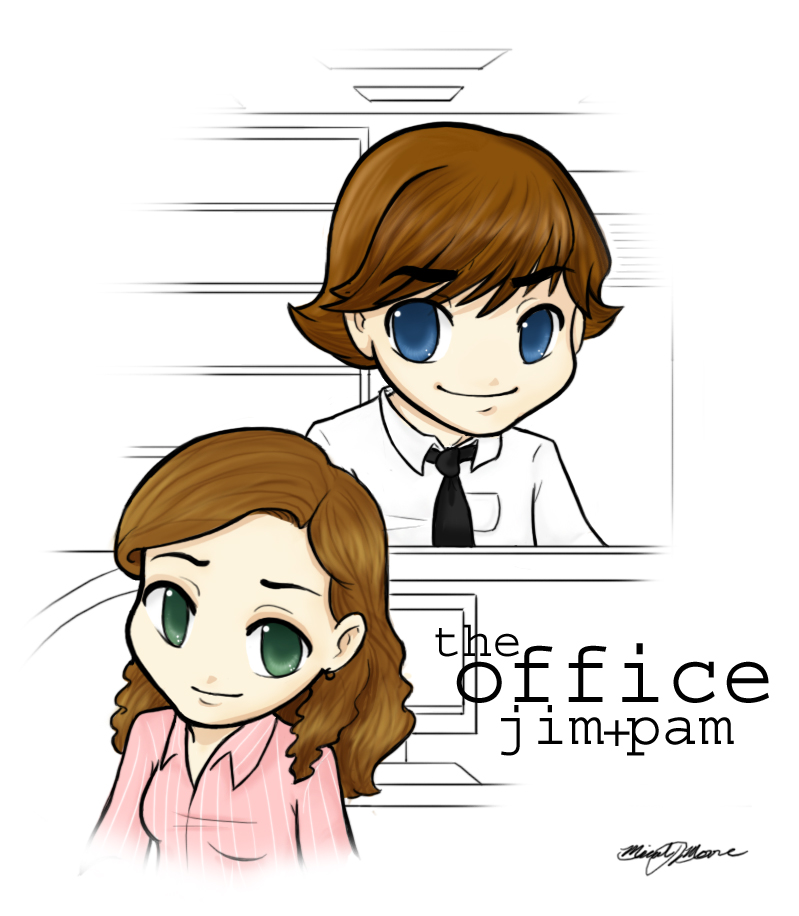 The Office Jim Pam By MicahJo