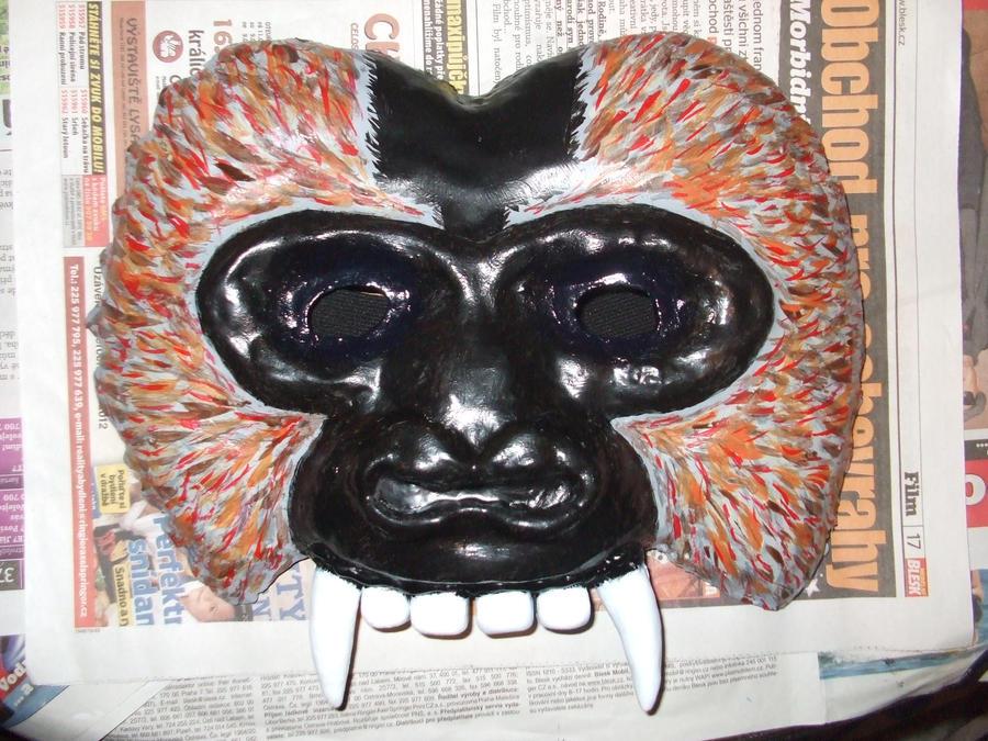 Macaque mask by IkasuTaiki