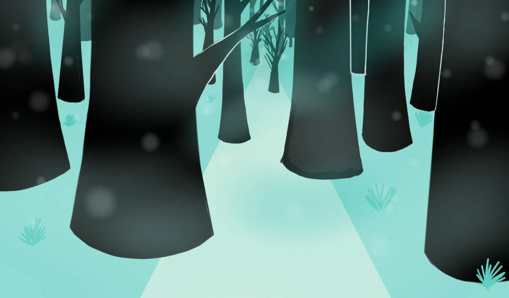 Turquoise forest by Beatriz-the-artist