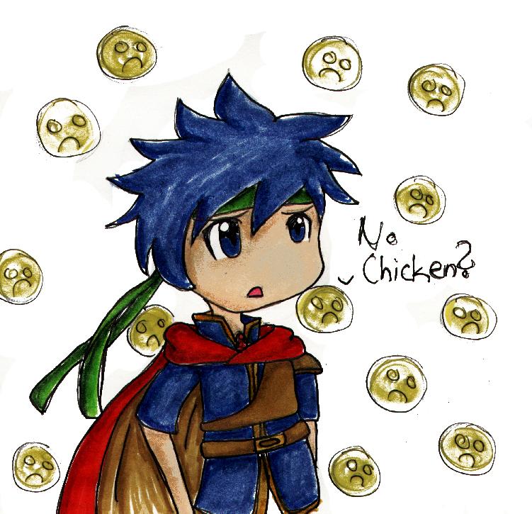Super Smash Bros Brawl rolling game! - Página 5 Ike__No_chicken__by_HappehCakes