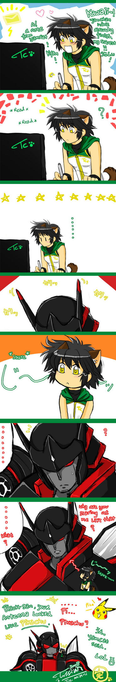 BlackGate have Pikachus ears by Tc-Chan