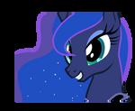 Luna smiling to somebody