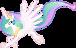 Princess Celestia taking a walk in air