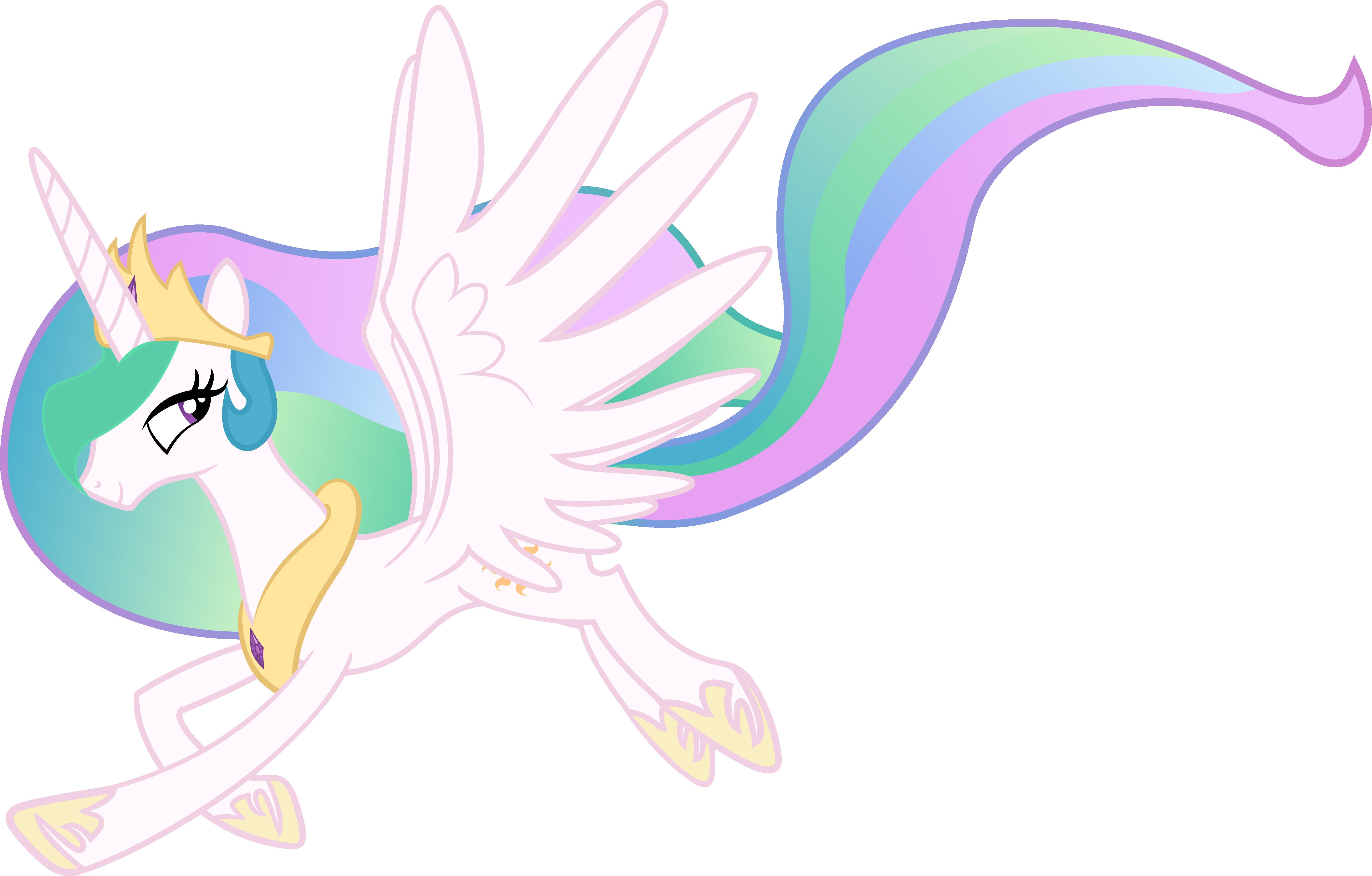 Princess Celestia taking a walk in air by sunran80