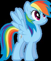 Rainbowdash vector by sunran80