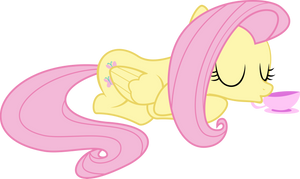 Fluttershy getting teatime by sunran80