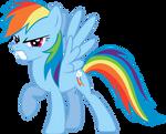 Rainbowdash in anger