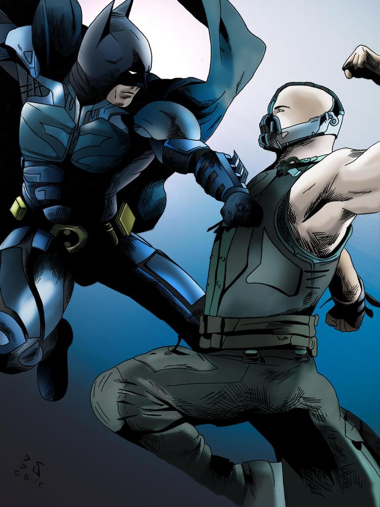 Batman vs Bane Color by whitekidz