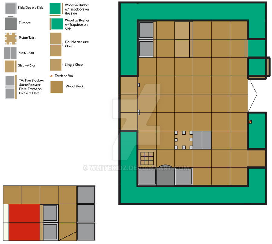 DeviantArt  More Like Minecraft House Floor Plan by whitekidzMinecraft House Floor Plan by whitekidz