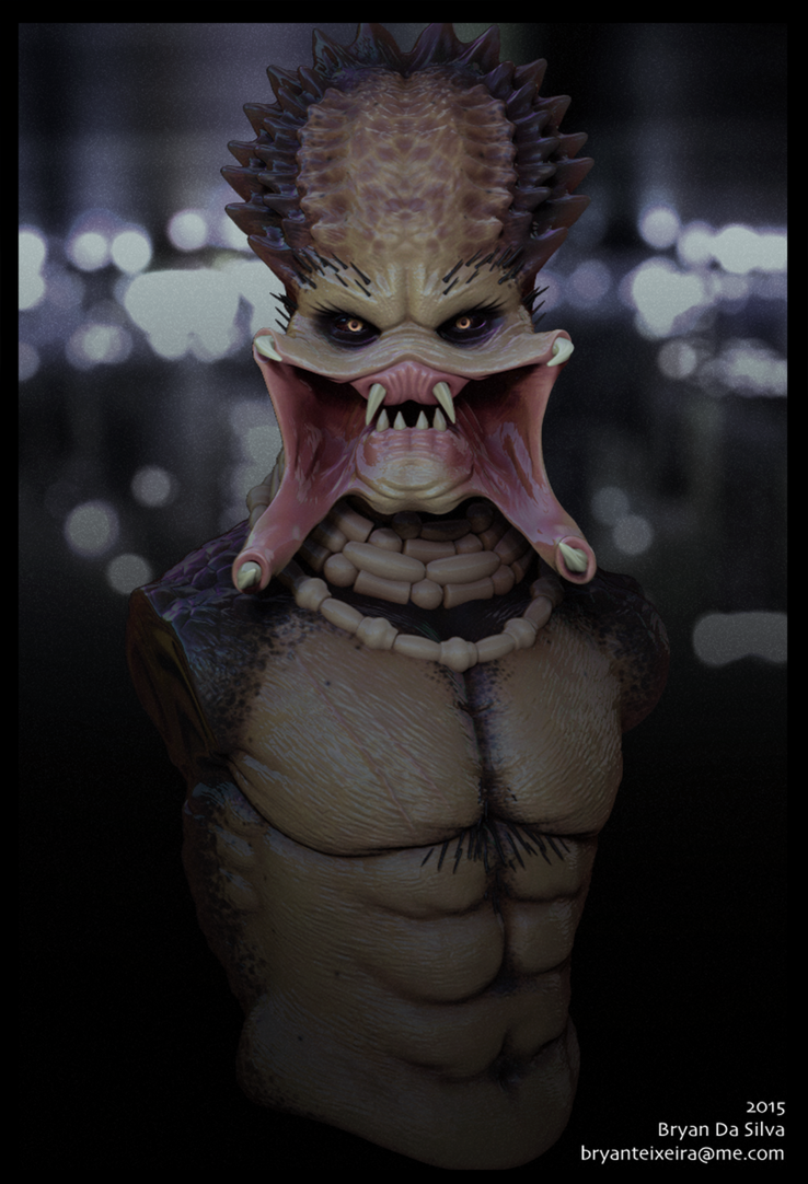 Predator Zbrush Render by whitekidz