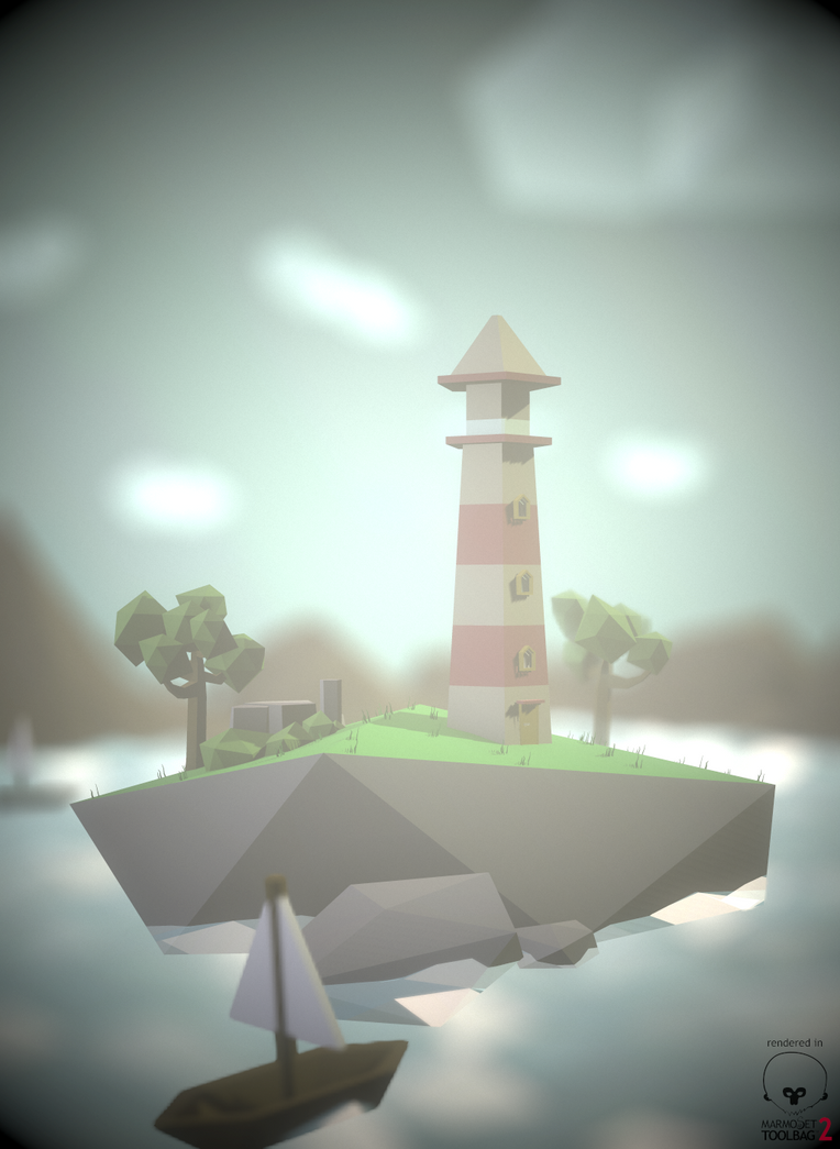 Lowpoly Lightouse Redone by whitekidz