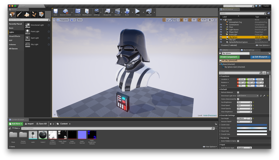 Unreal Vader by whitekidz