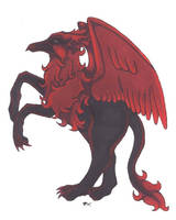 Red Raven Gryphon by Skychaser