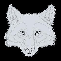 Free wolf line art