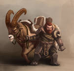 Dwarf with mount 01