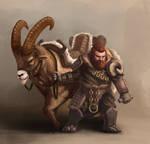 Dwarf with mount 01