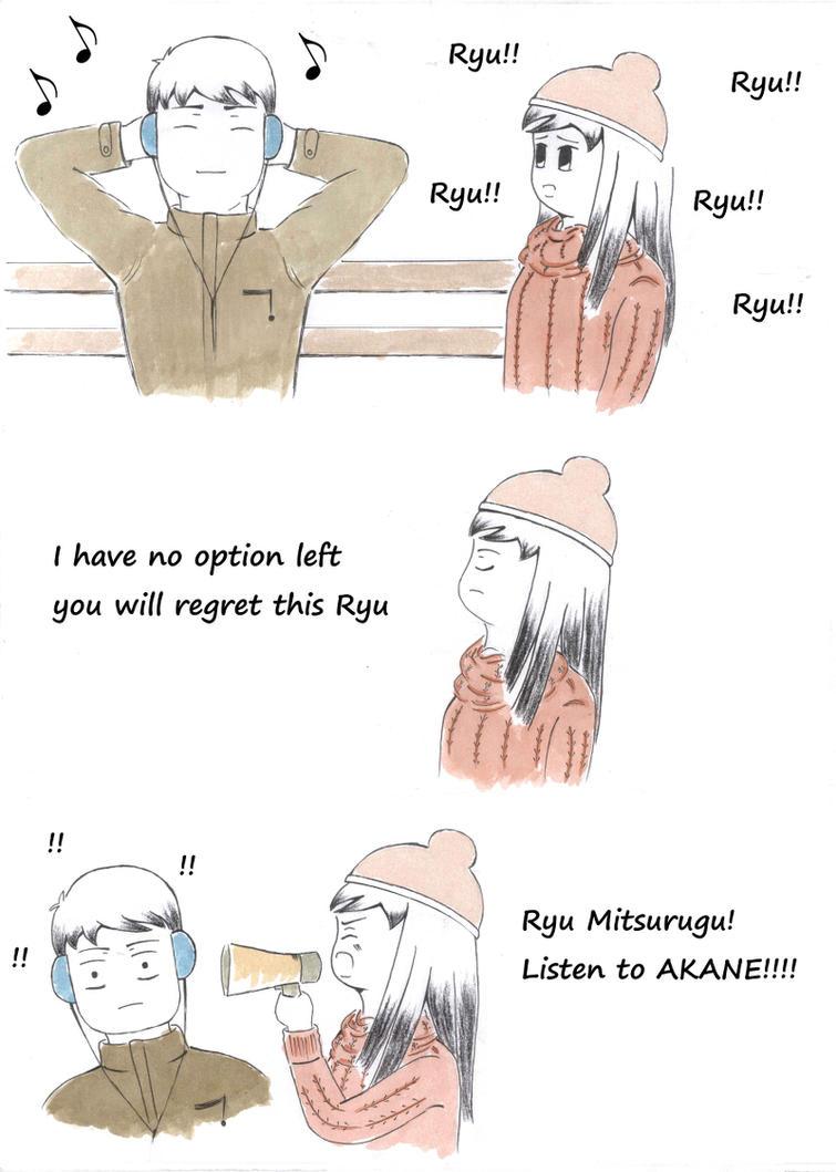 Akane Meets Ryu~ by GudServo